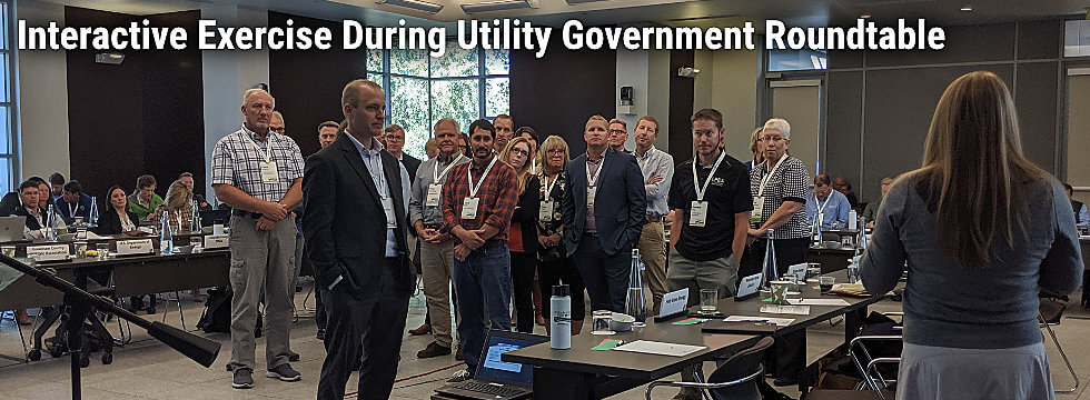 Interactive Exercise during Utility Government Roundtable